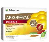 Arkoroyal Dynergie Ginseng Gelée Royale Propolis Solution Buvable 20 Ampoules/10ml à Toulon