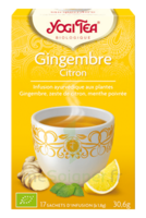 Yogi Tea Tisane Ayurvédique Gingembre Citron Bio 17 Sachets/1,8g à Toulon