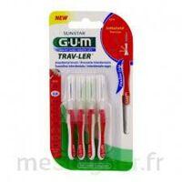 Gum Trav - Ler, 0,8 Mm, Manche Rouge , Blister 4 à Toulon