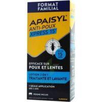 Apaisyl Anti-poux Xpress 15' Lotion Antipoux Et Lente 200ml+peigne à Toulon